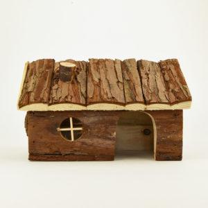 Maison en bois naturel hendrik pour hamster