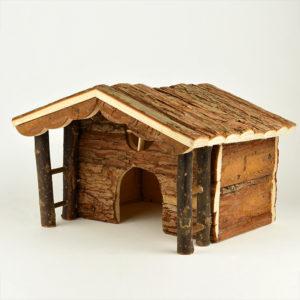Maison en bois pour Cochon d'Inde Knut natural living en bois naturel