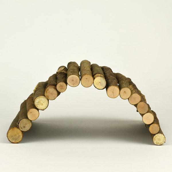 Pont en bois pour lapin et rongeur