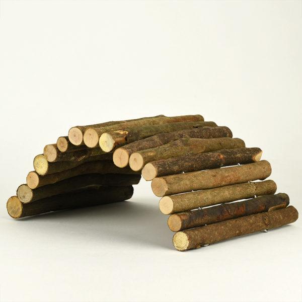 Pont en bois pour lapin et petit rongeur