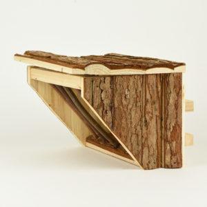 Râtelier à foin à suspendre en bois pour lapin et rongeur