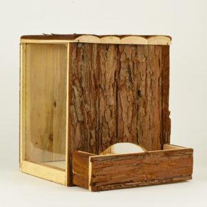 Tour de jeu et terrier natural living en bois naturel pour hamster et petit rongeur