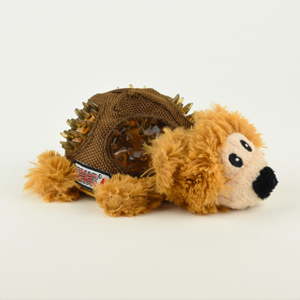 Peluche ours kong shells chien