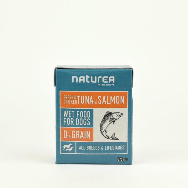 Pâtée poulet thon et saumon Naturea