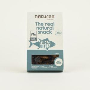 Friandises morceaux de thon naturel naturea chien
