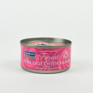 Pâtée au thon et au saumon fish4cats pour chat