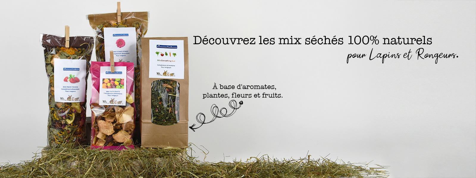 Mix de fleurs, fruits, plantes pour lapin et rongeur