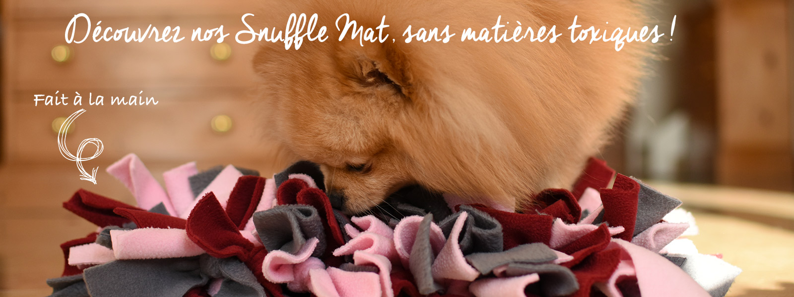 Snuffle mat ou tapis de fouille