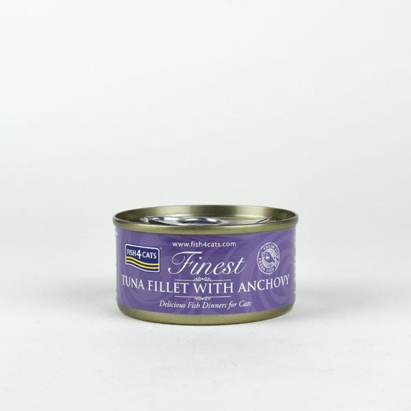 Pâtée filet de thon et anchois pour chat Fish4Cats