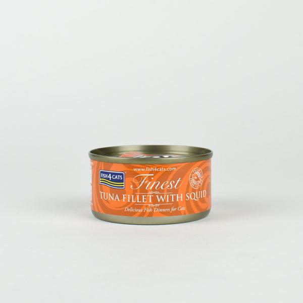 Pâtée pour chat au thon et au calamar fish4cats