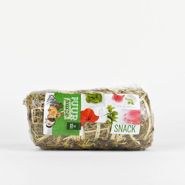 Mini botte de foin au fleurs pour lapin et rongeur