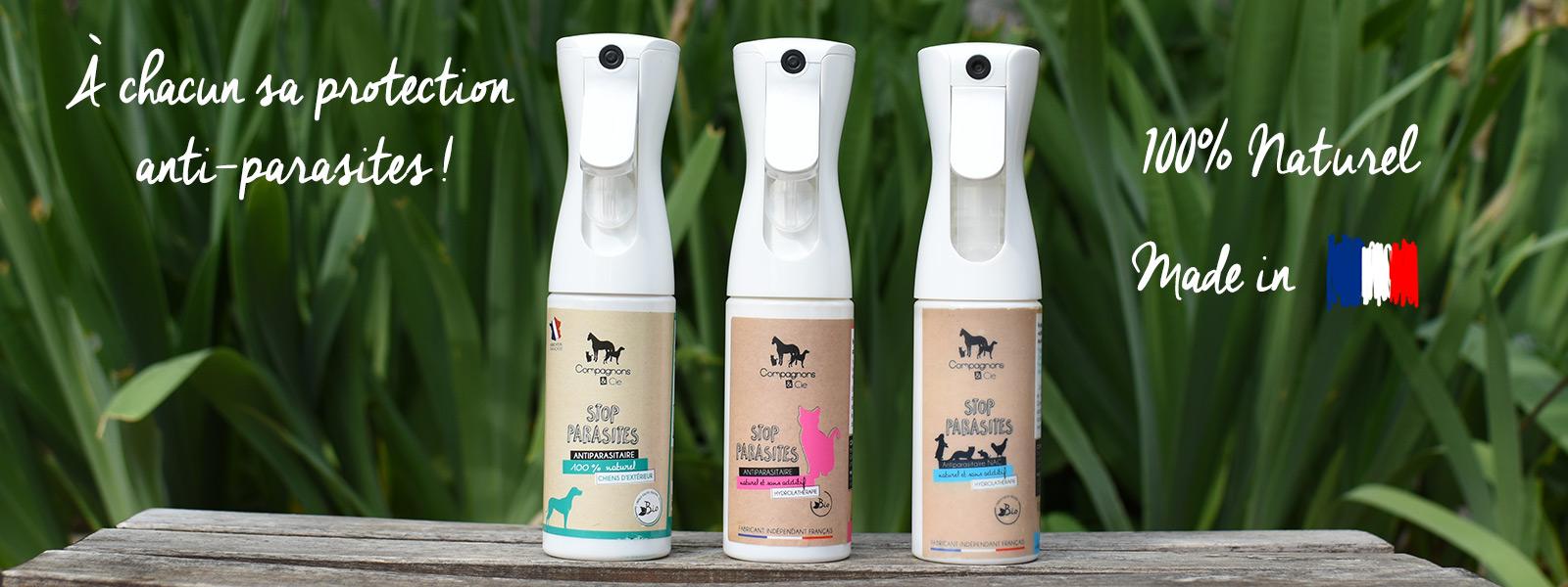 Brumisateurs anti-parasites pour chien, chat et lapin