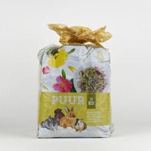 Foin de prairie avec fleurs pour lapins et rongeurs PUUR