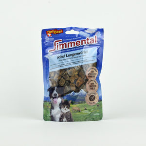 Friandises mini cubes de poumon de boeuf pour chiens et chats DeliBest
