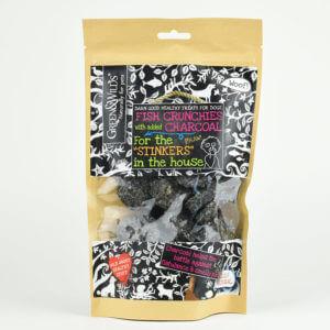 Crunchies de poisson au charbon végétal pour chien