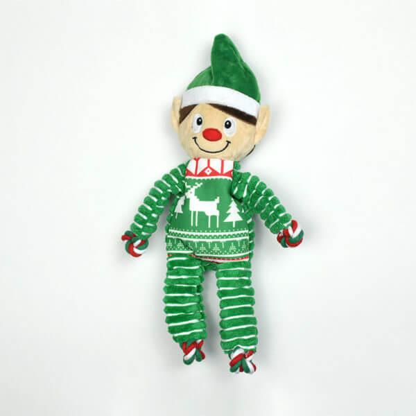 Peluche Kong Floppy Knots Elfe spécial Noël
