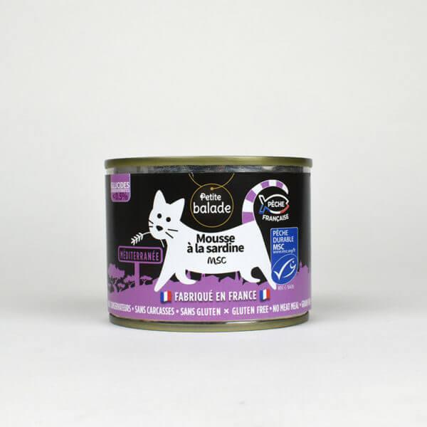 Mousse à la sardine MSC pour chat